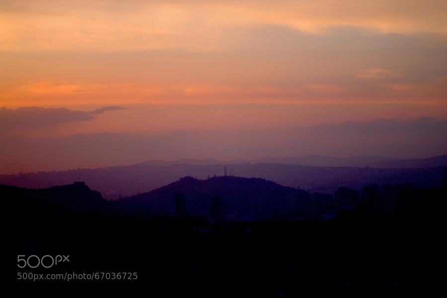 Photograph sun shine ankara silhouette by Selim Özköse on 500px
