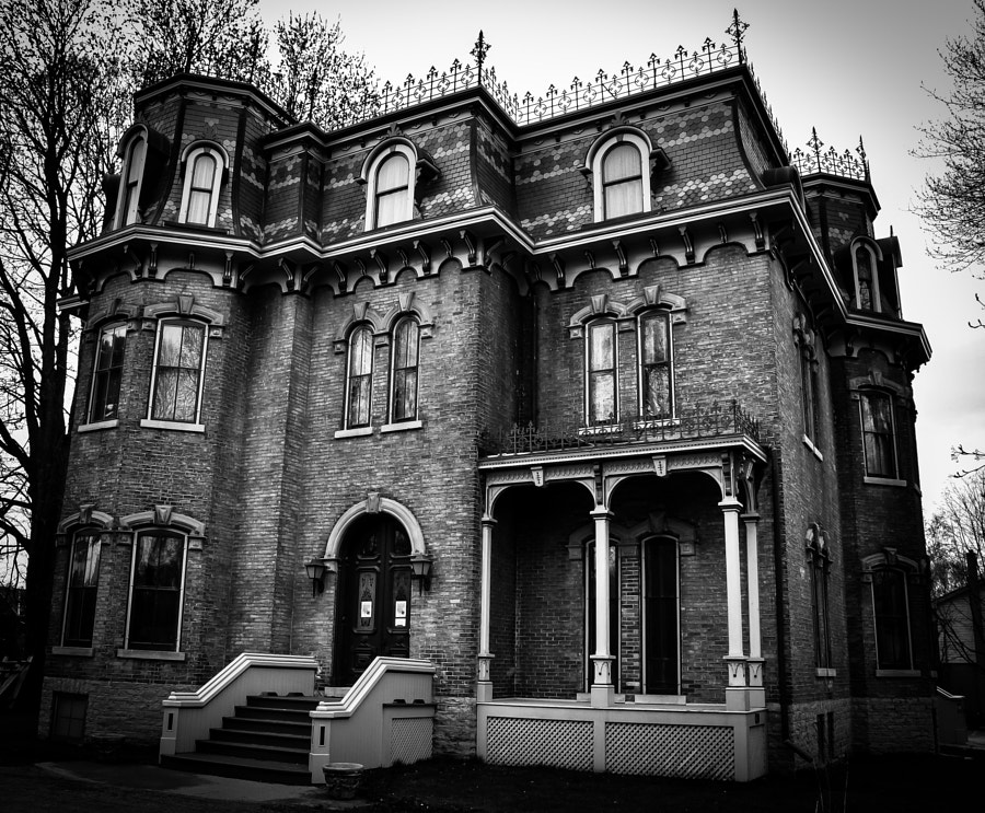 An imposing home, now museum, currently closed for renovation. Belleville, Ont.