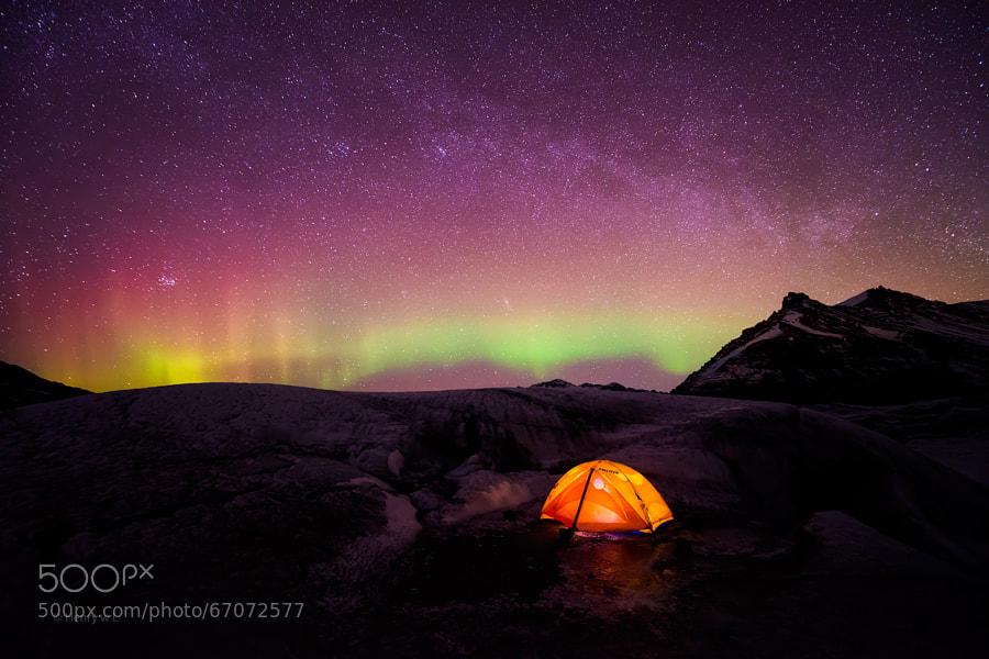 Photograph Where Sky lights meet by Henry Liu on 500px