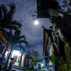 Постер, плакат: Moon in Bali 15 April 2014 Red Moon