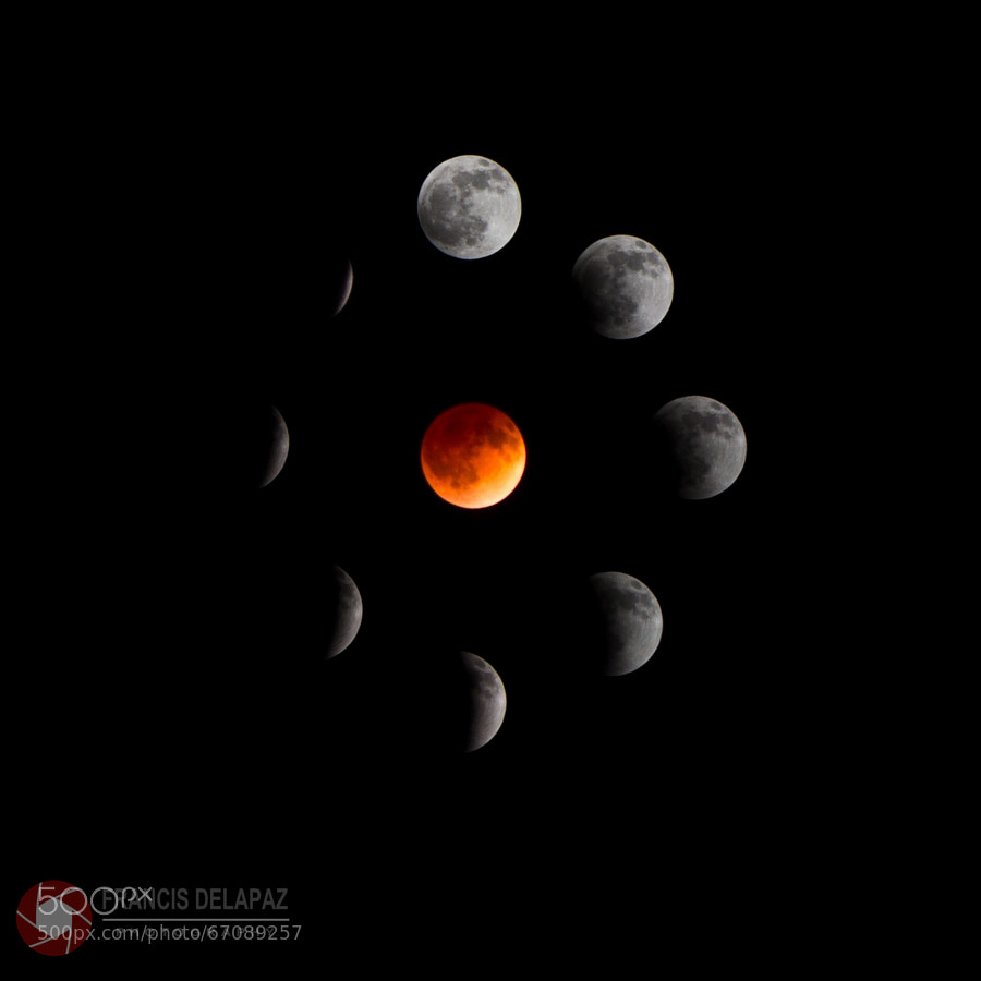 Photograph Blood Moon (circle) by Francis Delapaz on 500px