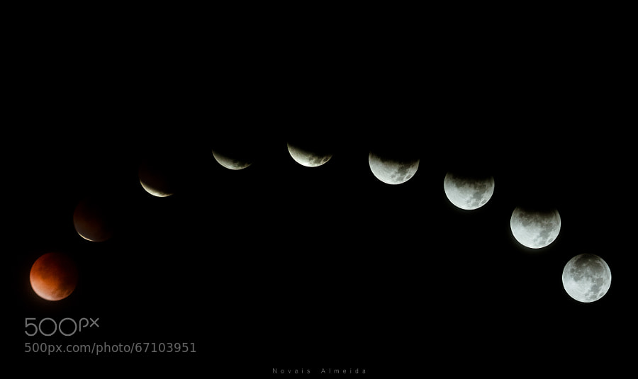 Photograph Total eclipse of the moon by Novais Almeida on 500px