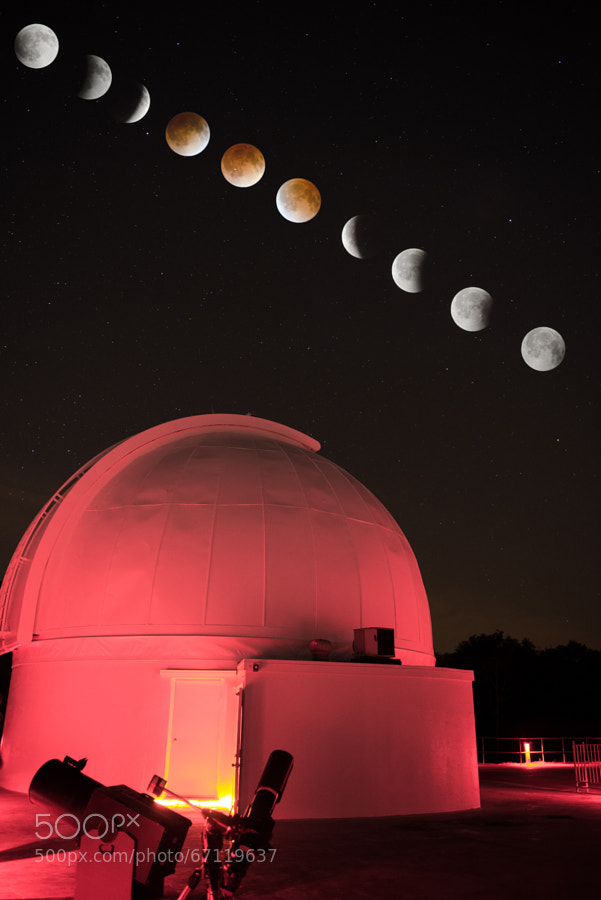 Photograph Lunar eclipse at George Observatory by Sergio Garcia Rill on 500px