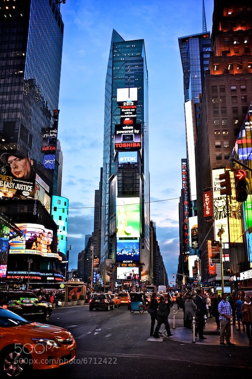 Photograph Time Square by Rhys Hastings on 500px