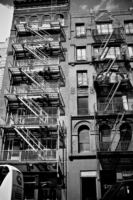 Photograph Fire Escapes in NYC by Rhys Hastings on 500px