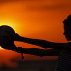 Постер, плакат: She and the soccer ball