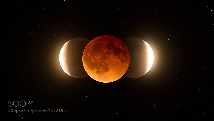 Photograph Blood Moon Eclipse 2014 by Charles Lindsey on 500px