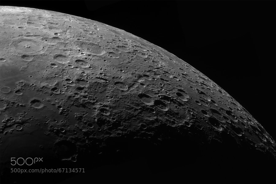 Photograph Quarter of a Moon by Mike Greenham on 500px