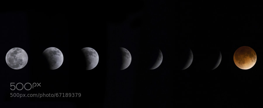 Photograph Eclipse total de Luna  ( Luna de Sangre ) by Amilcar Muñoz on 500px