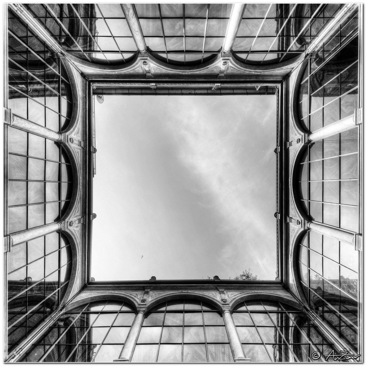 "Photograph Framed sky BW by Andrea ""AnZanov"" Zanovello on 500px"