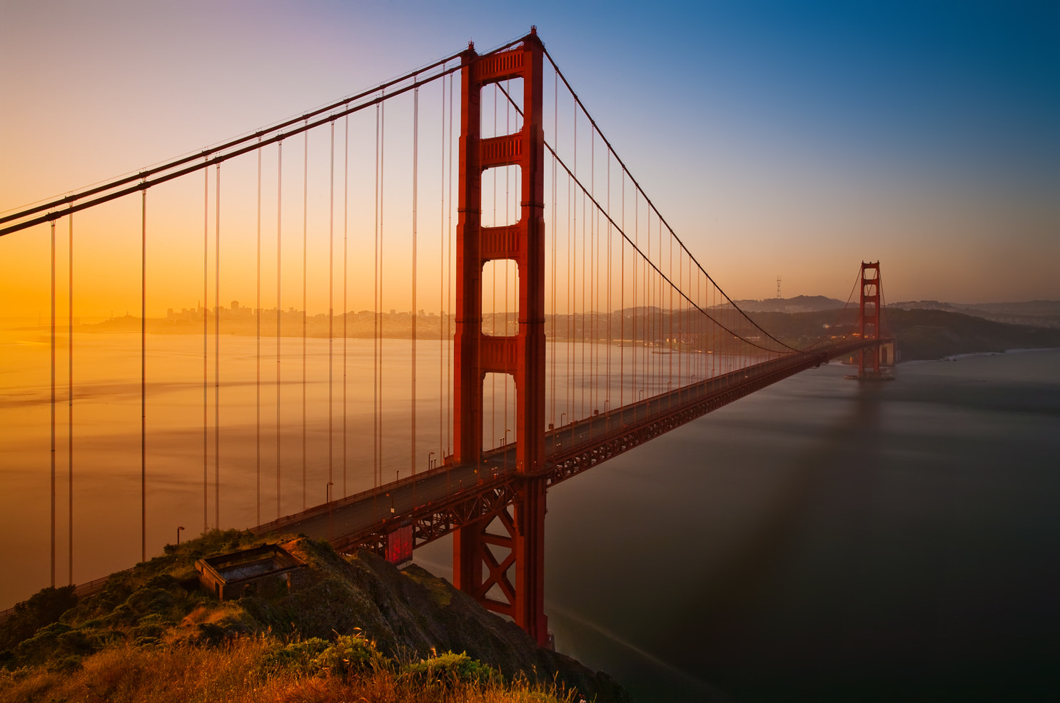 Photograph Golden Gate Sunrise by Chris Lazzery on 500px