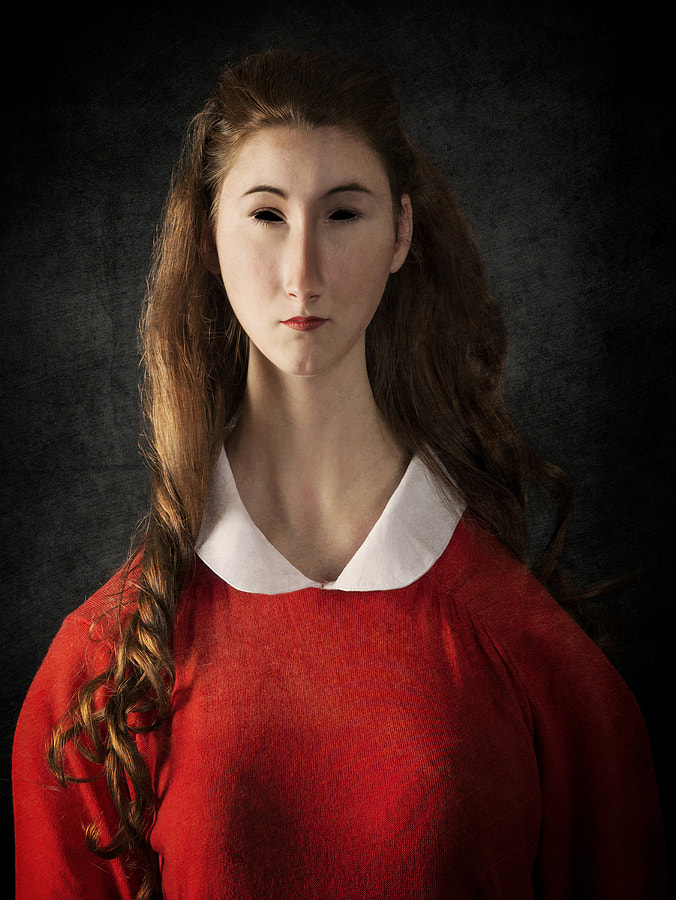 Young Woman with Red Sweater