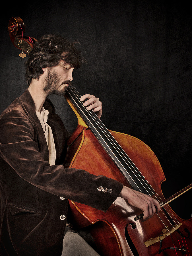 Man with Contrabass
