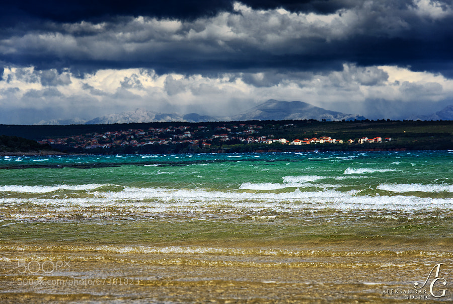 When Velebit mountain grins, wraps itself in black and disappears in a snowy curtain, only waves are welcome on the beach