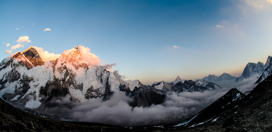 Sunset on Mt. Everest by Daniel Bear on 500px.com