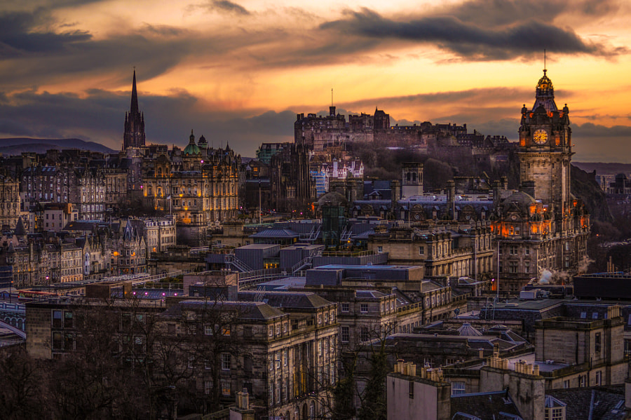 Edinburgh twilight by Karina Vera on 500px.com
