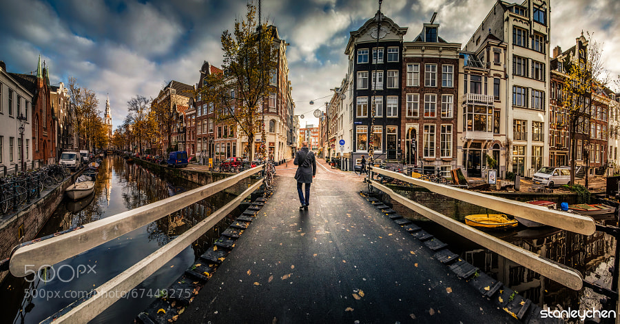 Photograph Walking into Amsterdam by Stanley Chen Xi on 500px