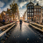 Walking into Amsterdam