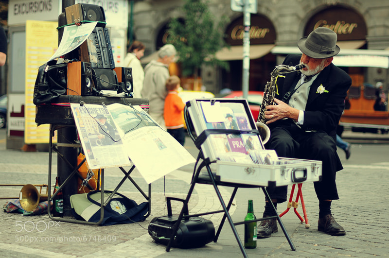 Photograph The Prague Saxophonist by Joan Brossa on 500px