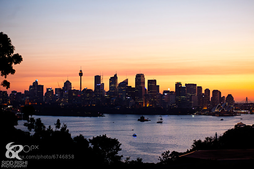 Photograph Sunset of Sydney CBD by Sidd Rishi on 500px