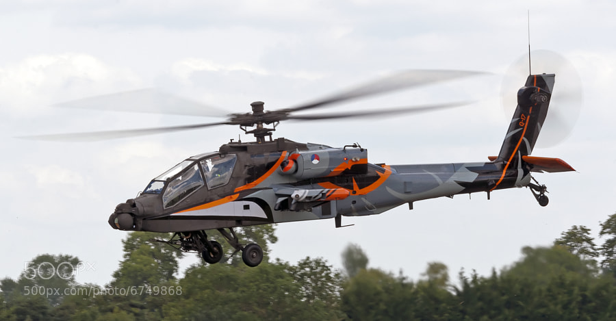 The Royal Netherlands Air Force Apache Demo Team helicopter at the Royal International Air Tattoo in 2011