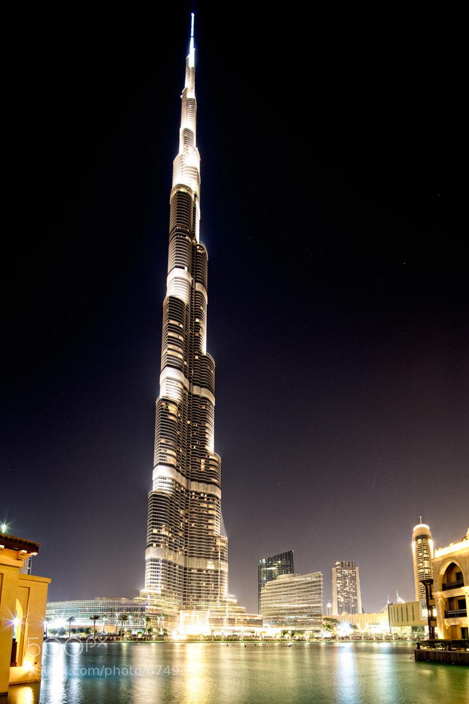 Photograph Burj Khalifa at Night by Joseph Calev on 500px