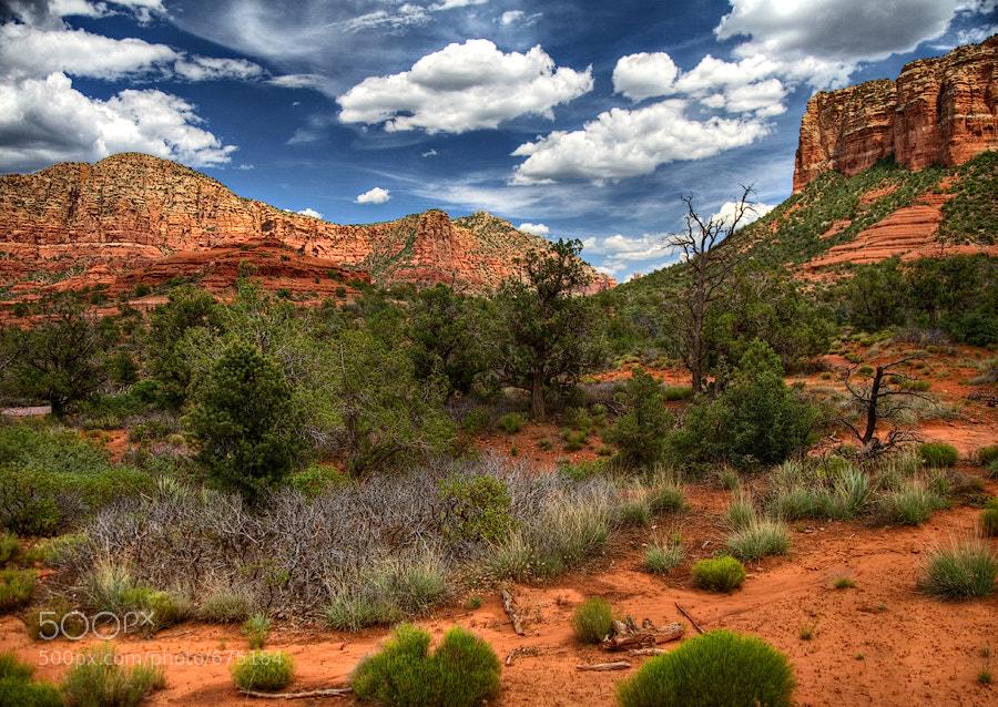 Taken in Sedona, Arizona beside Bell Rock, Single Image HDR
