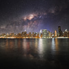 Постер, плакат: Milky Way over NYC