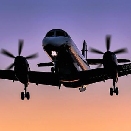 Sky Express landing at Diagoras airport