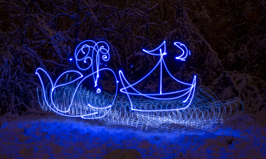 Light painting image of a Sea scene by Carin Harris on 500px.com