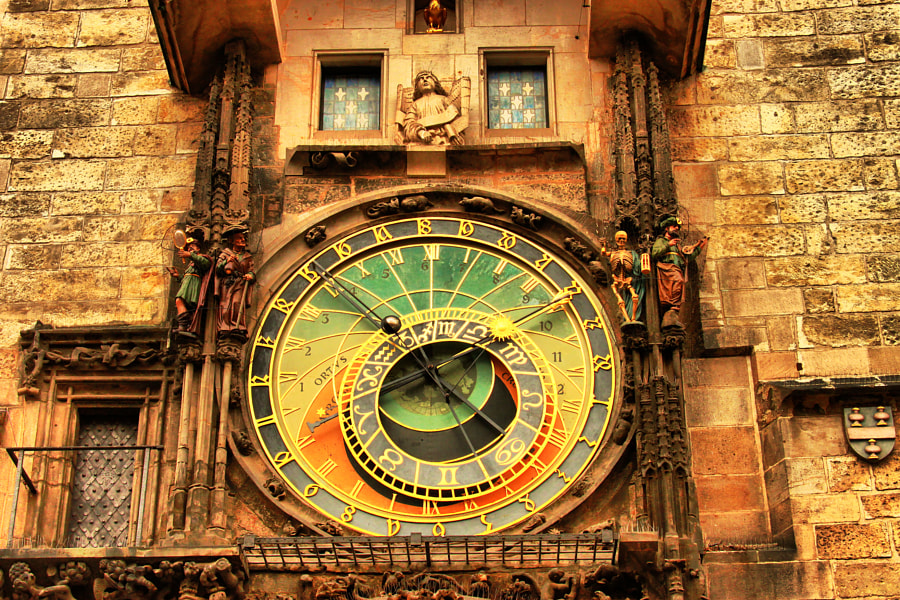 Photograph Prague astronomical clock by Nataliya Kalinina on 500px