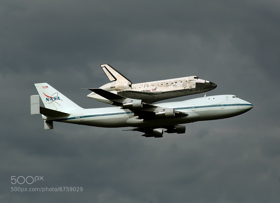 On Tuesday, 17 April 2012, the Space Shuttle Discovery was delivered to the National Air and Space Museum atop the NASA 747.