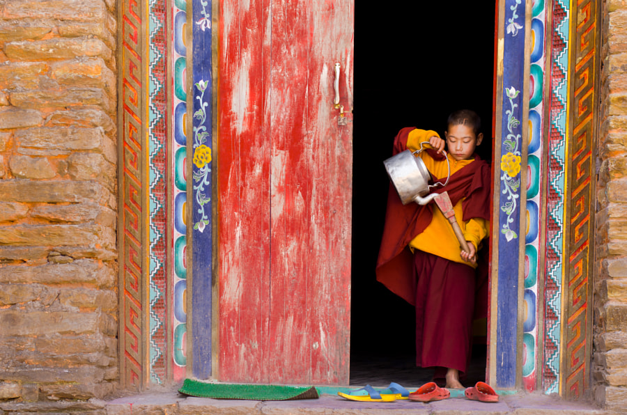 The Little Monk by Dilwar Mandal on 500px.com