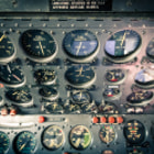 Постер, плакат: Flight engineer overhead panel
