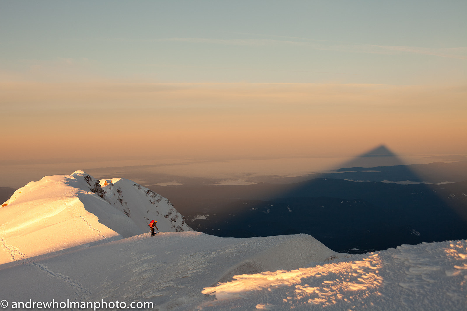 Photograph Mt Hood Summit Shadow by Andrew Holman on 500px