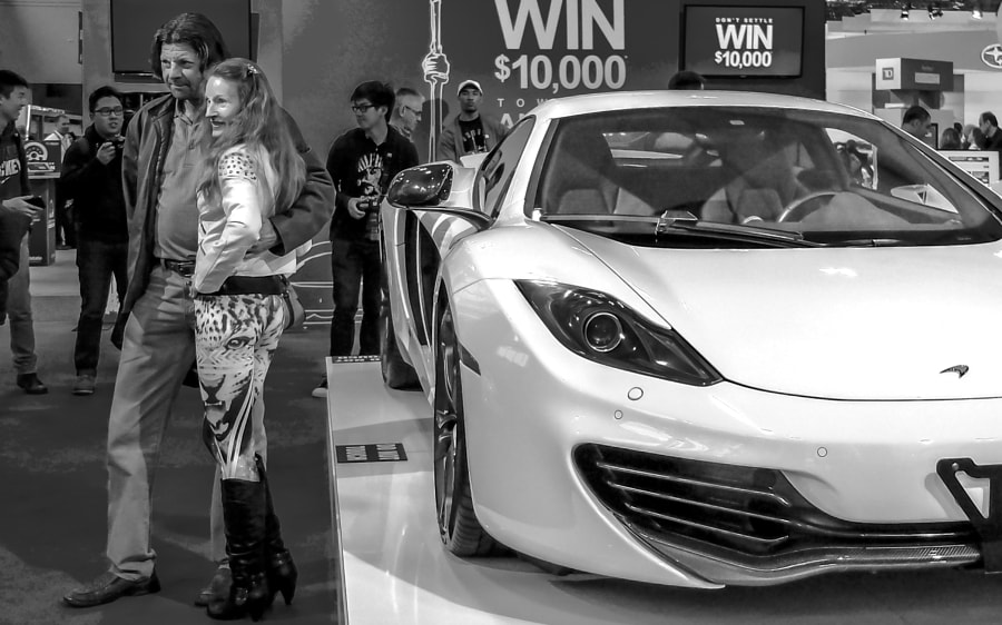 Leopard Pants & Supercar-b/w