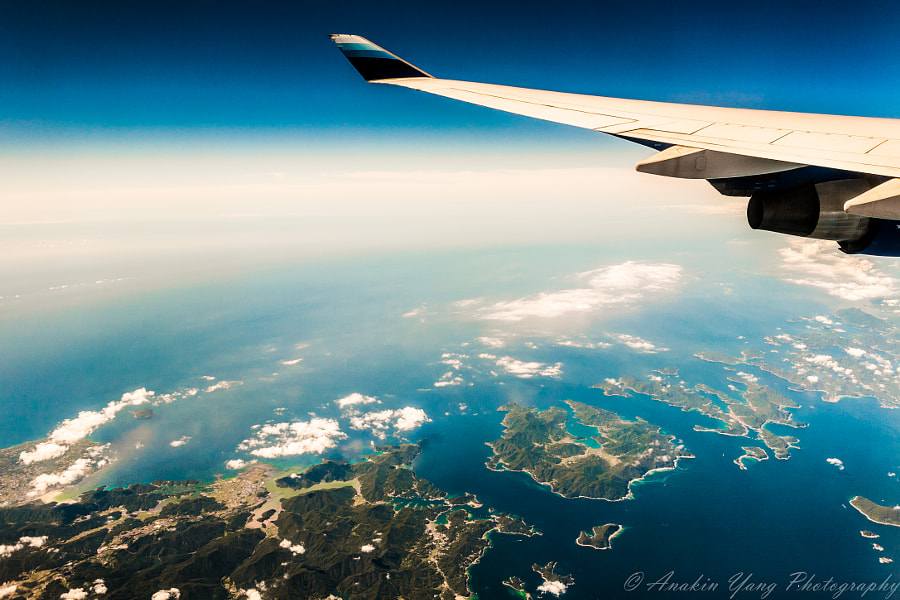 Photograph Goto Islands from 30,000 feet by Anakin Yang on 500px