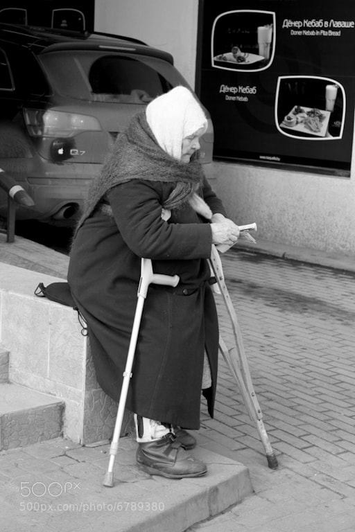 Photograph Grandma, Begging Money by Dzmitry Veleskevich on 500px