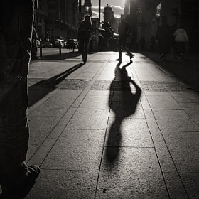 Shadow in Gran Vía... by Carlos  Rodríguez Photographer (moshulu)) on 500px.com