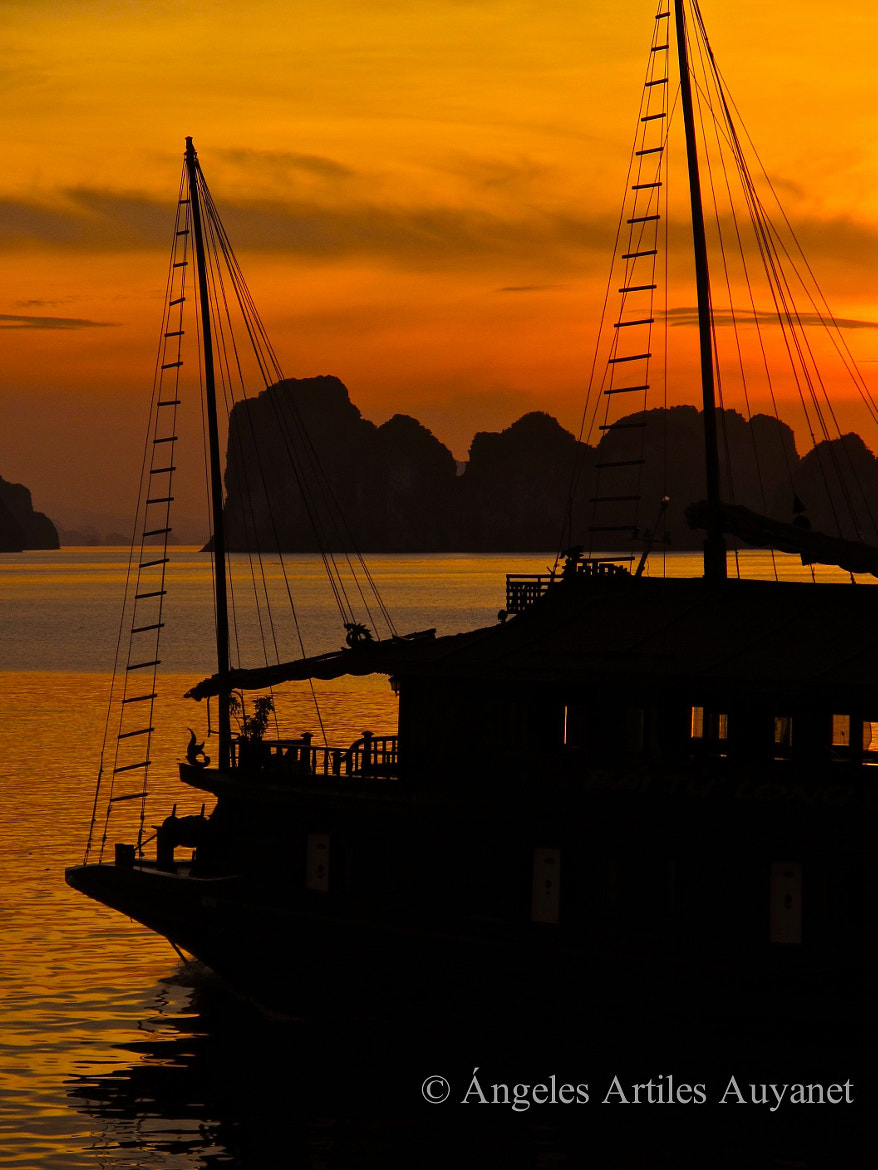 Photograph Sunset at Halong Bay, Vietnam by Ángeles A. Auyanet on 500px