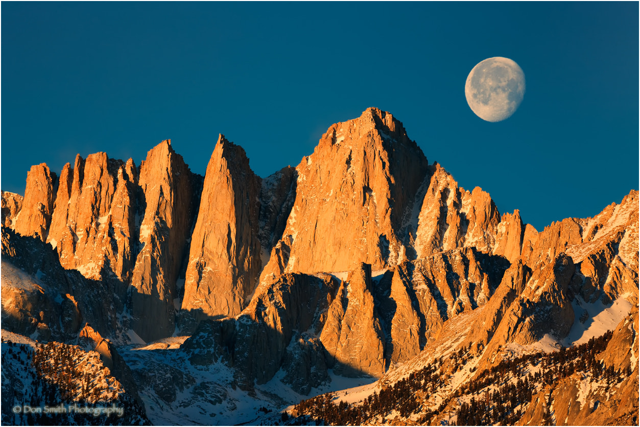 Photograph Moonset and Mt. Whitney by Don Smith on 500px