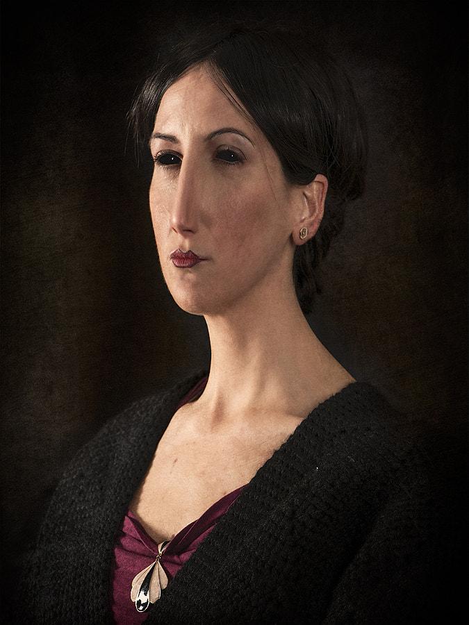 Portrait of Brunette.