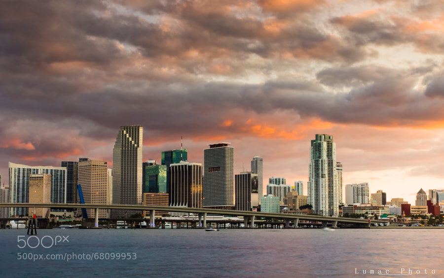 Photograph Sunset on miami by Laurent LEO on 500px