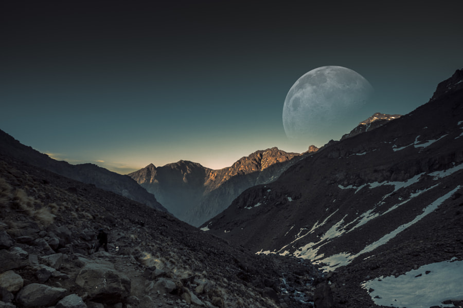 Moon from Toubkal by Ibrahim Oubahmane on 500px.com