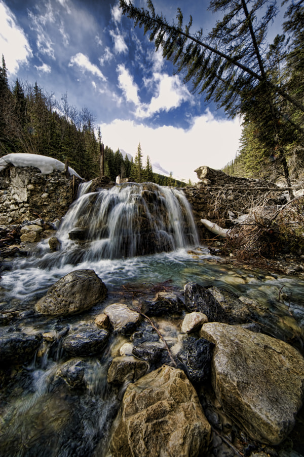 Waterfall in Canmore