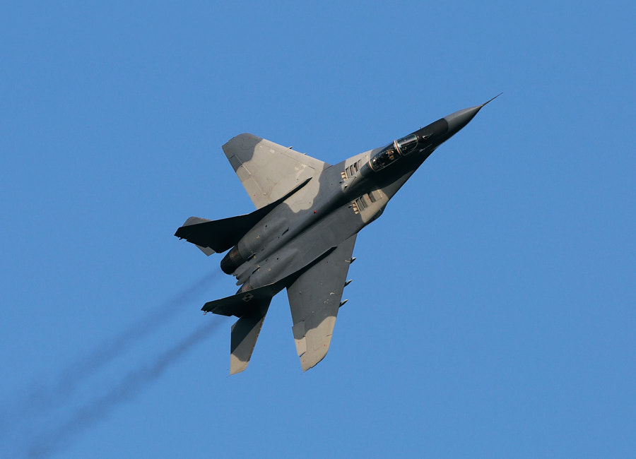 """Polish Air Force MiG-29 """"Fulcrum"""" during an Airshow in Leeuwarden, the Netherlands.  Best wishes and have a nice day,  Harry"""