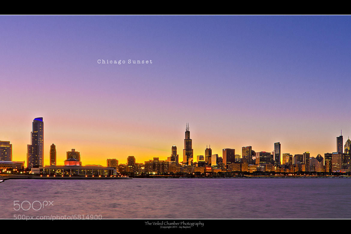 Photograph Chicago Sunset by Jay B on 500px