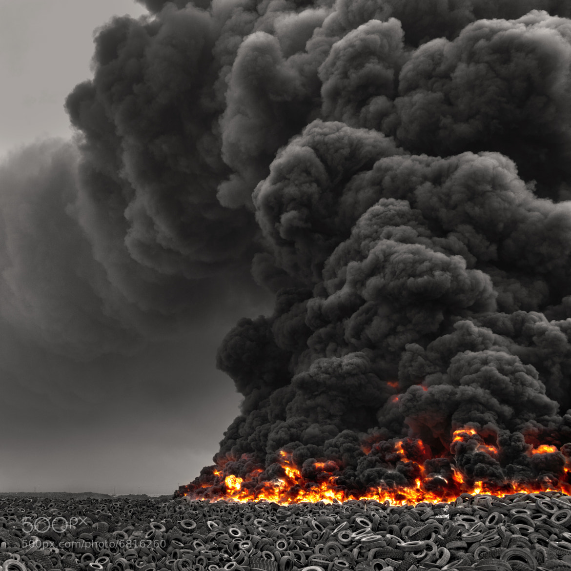 Photograph Kuwait Tire Fire by Mohammed ALSULTAN on 500px