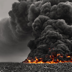 Kuwait Tire Fire by Mohammed ALSULTAN (MrALSULTAN) on 500px.com