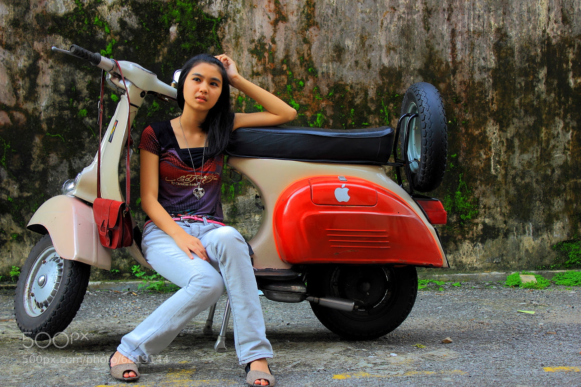 Photograph Girl and Scooter by ryoma abe on 500px